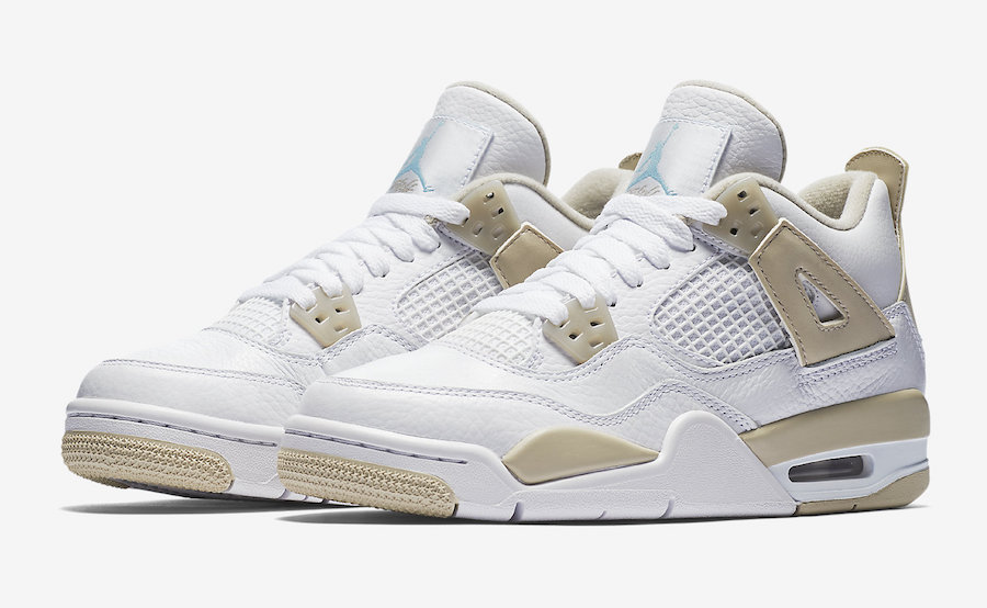"""Official Images of the Air Jordan 4 """"Linen"""" GS have arrived"""