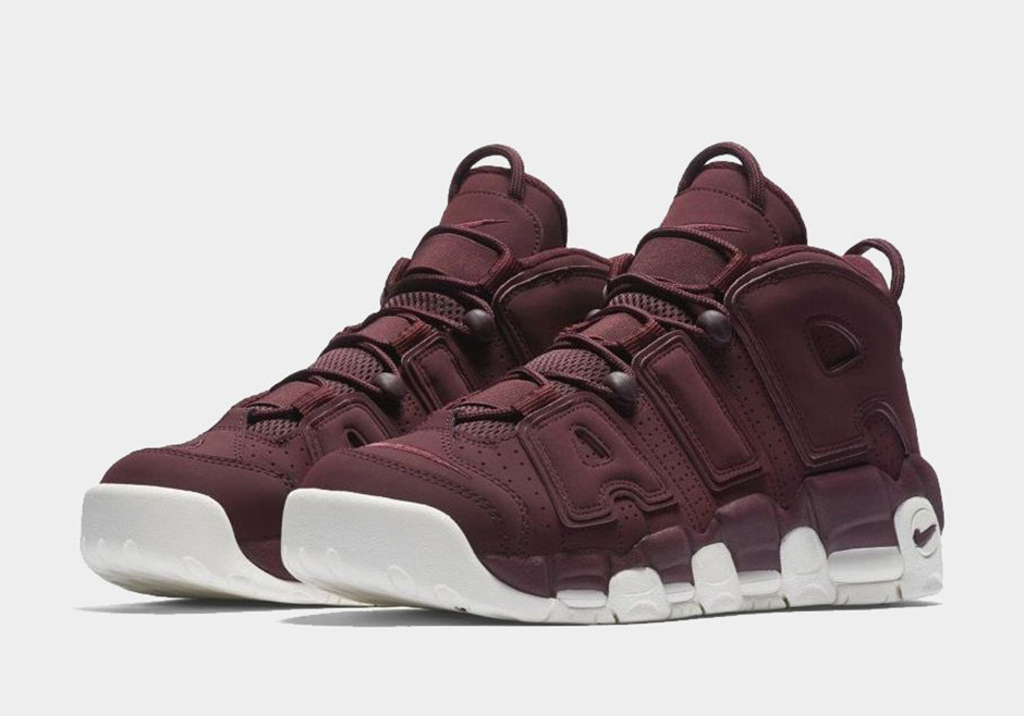Bordeaux hits the Nike Air More Uptempo