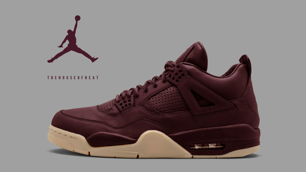 "buy online 66267 32a49 The Daily Concept – Air Jordan 4 PRM ""Maroon"""