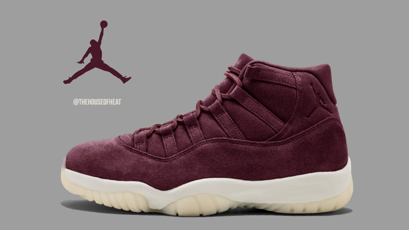 "Today's Concept: Air Jordan 11 ""Maroon Suede"""