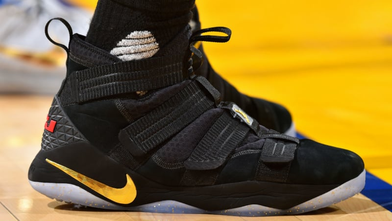 4011899dd8d8 LeBron debuts a new colorway for the Soldier 11 during Game 2 ...