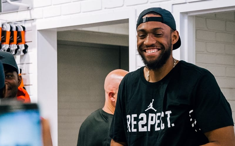 Jabari Parker was banned from rocking Jordans as a kid