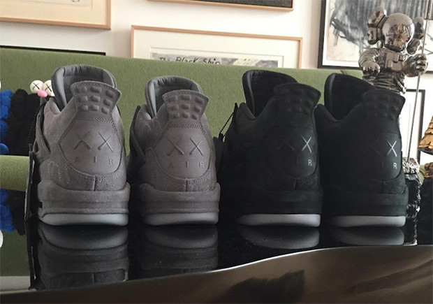 KAWS hints at a Black Air Jordan 4 release