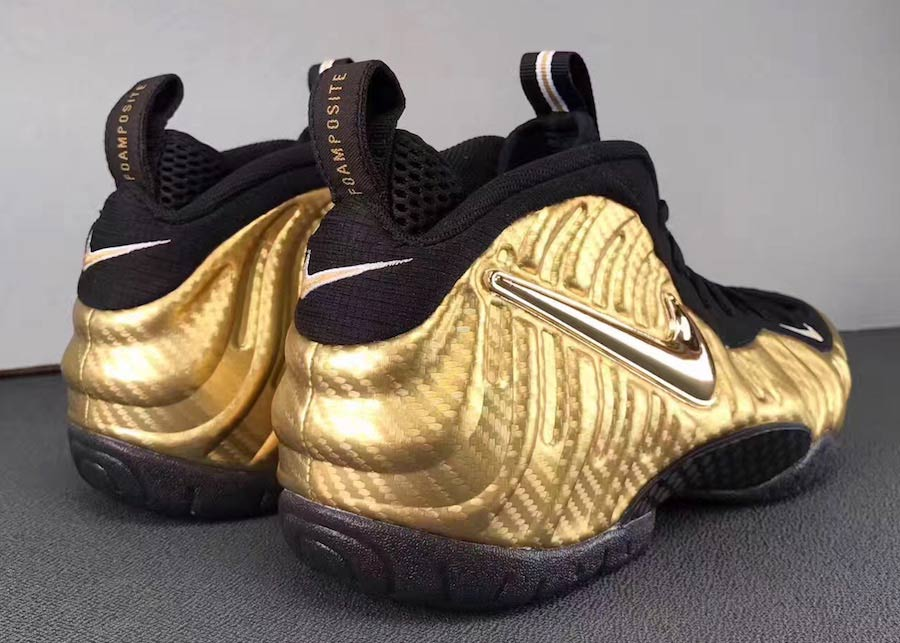 "new product 46f19 56699 Here s your First Look at the Nike Air Foamposite Pro ""Metallic Gold"""