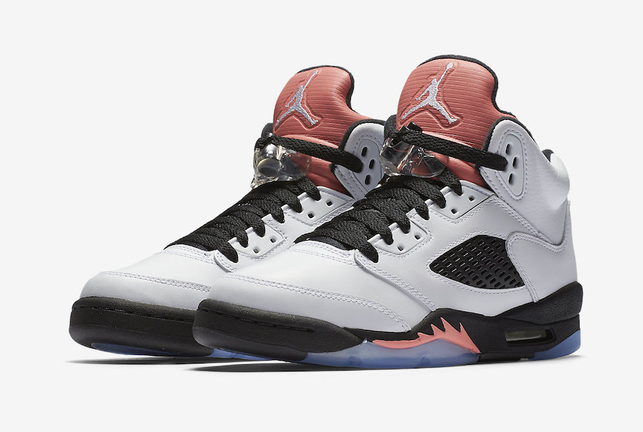 "Official images are here for the ""Sunblush"" GS Jordan 5"
