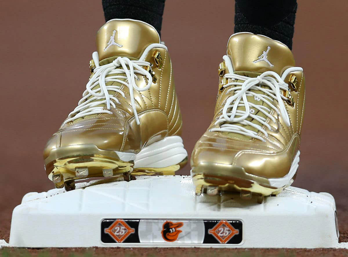 MLB Players rock Gold Jordan 12 cleats to support Childhood Cancer Awareness