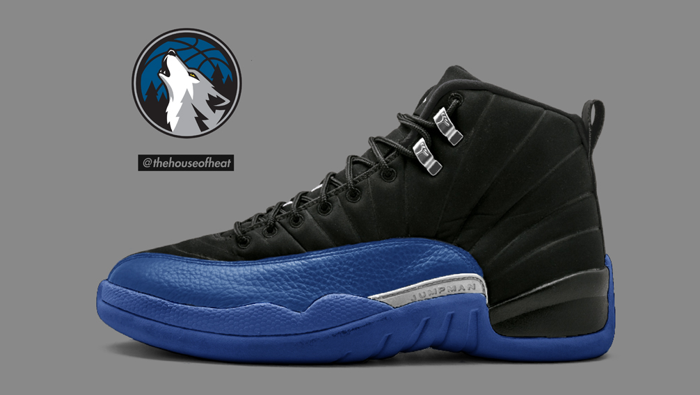 "Today's Concept : Air Jordan 12 ""Timberwolves"" Jimmy Butler PE"