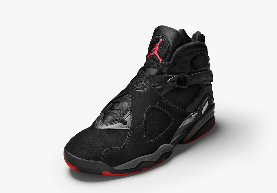 "The ""Bred"" Jordan 8 will also release in GS sizing this weekend"