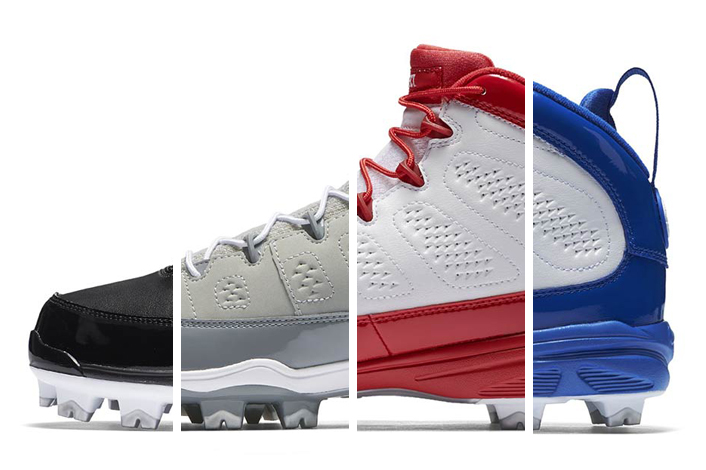 There's four Air Jordan 9 Baseball Cleats are on the way