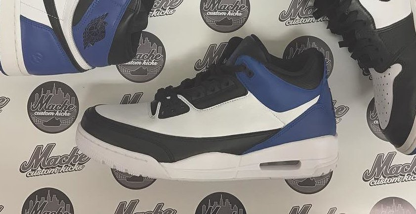 Mache imagines a Fragment x Air Jordan 3