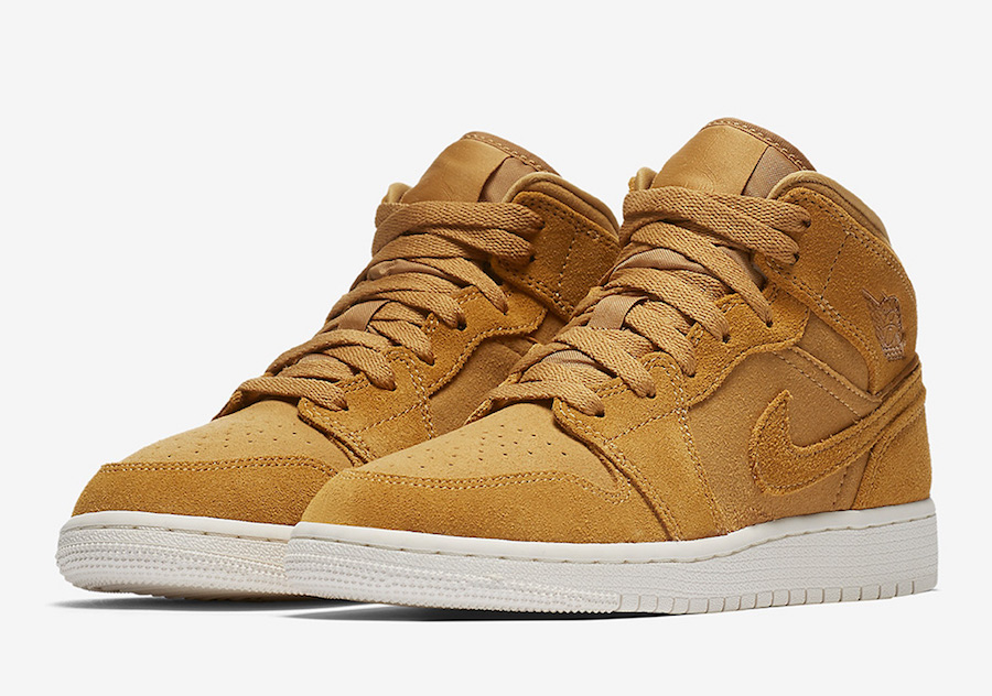 "This kids Air Jordan 1 ""Wheat"" just released"