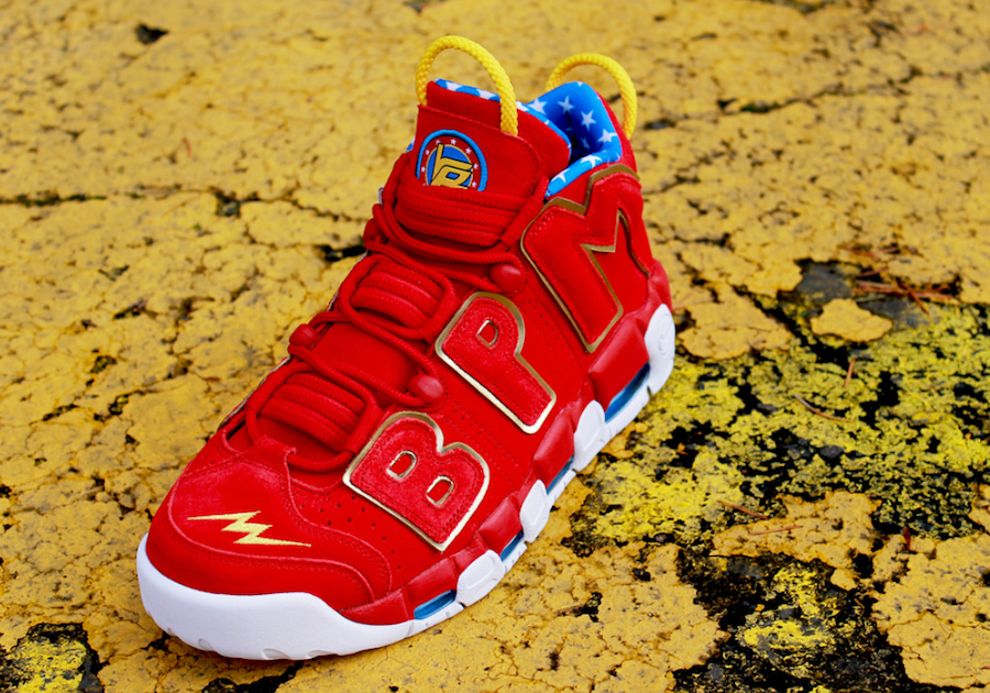 Wonder Woman inspired this very special edition Doernbecher More Uptempo