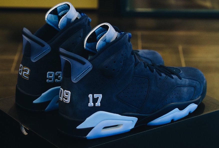 Trophy Room displays an Alternate version of the UNC Championship Jordan 6 180088634