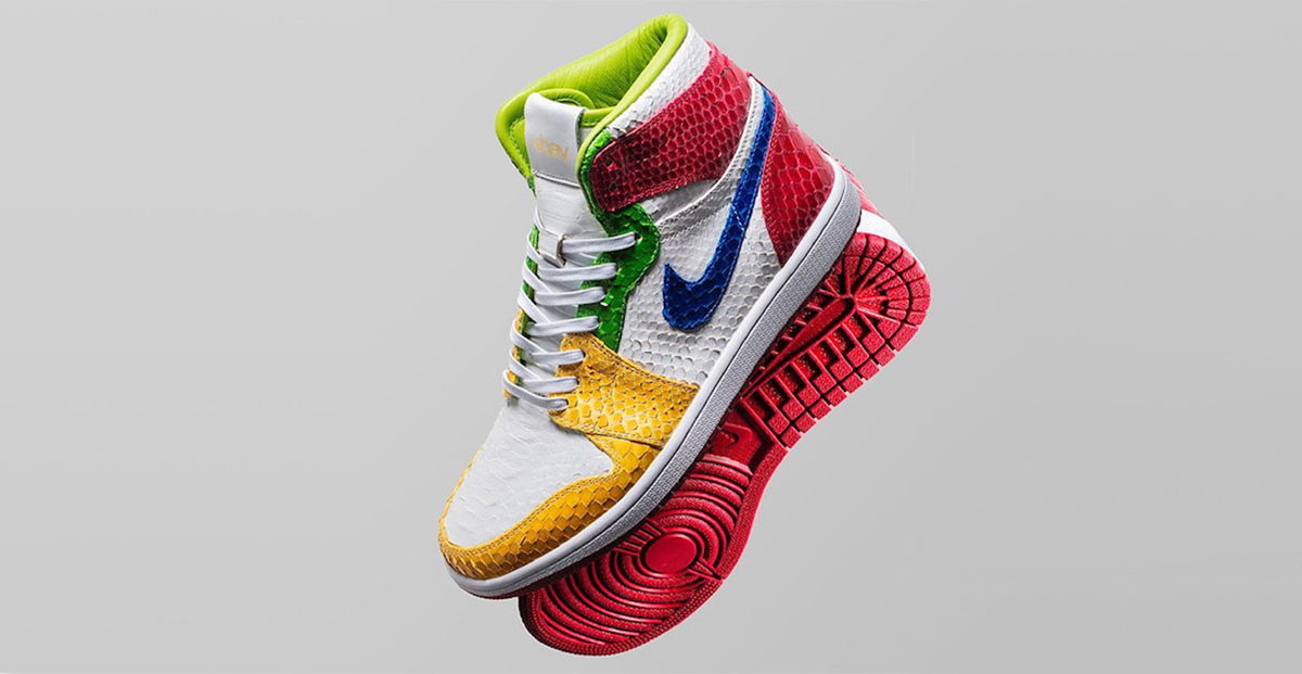 These eBay Air Jordan 1's by the Shoe Surgeon are benefitting wildfire relief