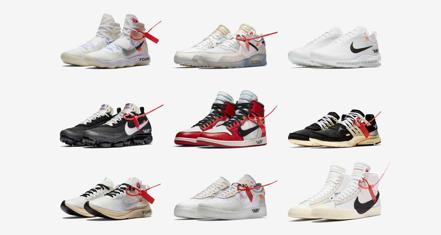 "The Nike x Off-White ""The Ten"" collection releases TODAY"
