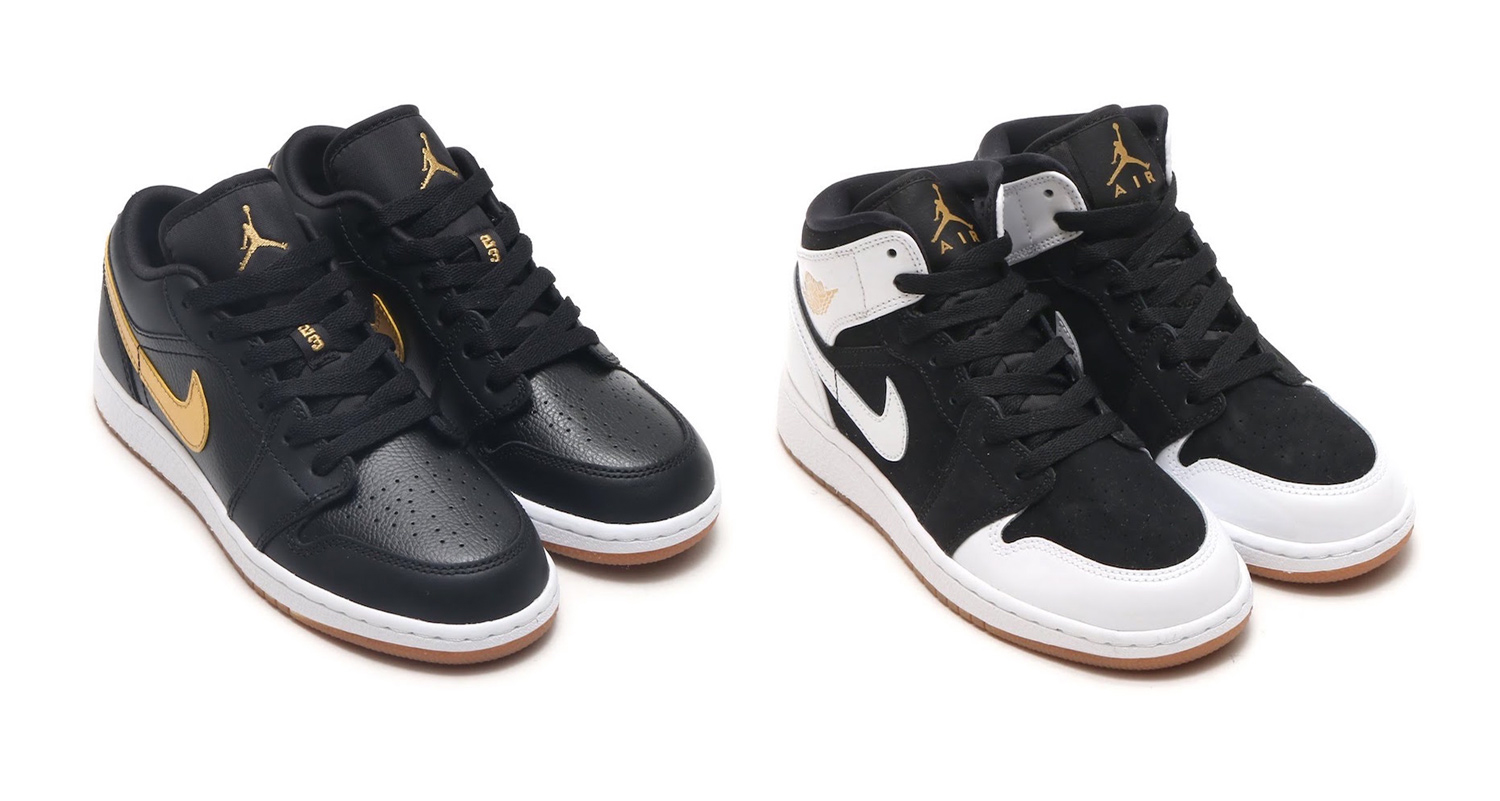 Jordan Brand drop a Black, Gold and Gum pack for the kids
