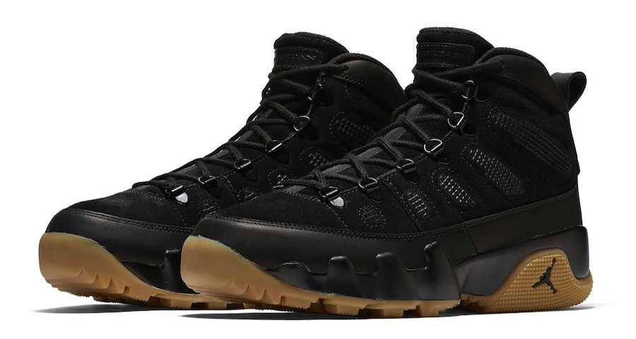 The Jordan 9 Boot in Black and Gum drops tomorrow