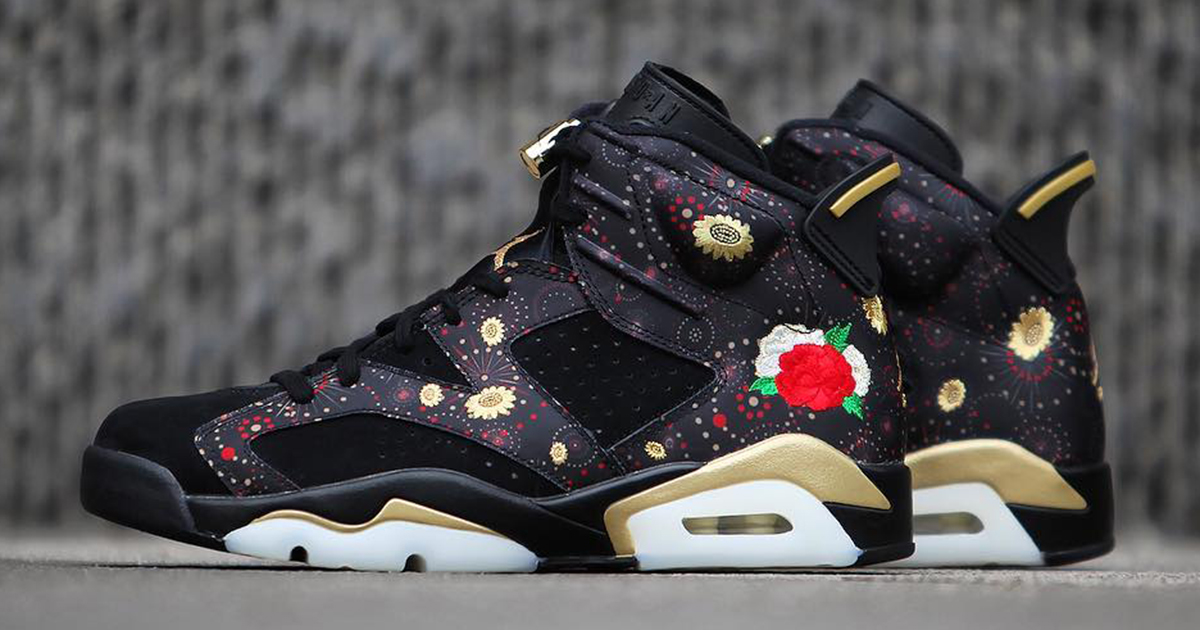 "A detailed look at the ""CNY"" Air Jordan 6"