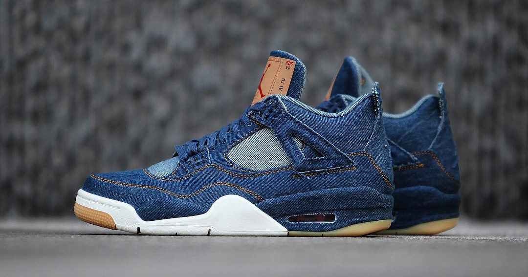 A detailed look at the Levi's x Air Jordan 4 'Denim'