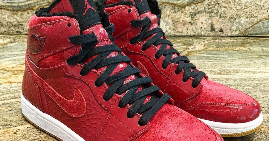 "From the sample vault : Air Jordan 1 ""Red Python"""
