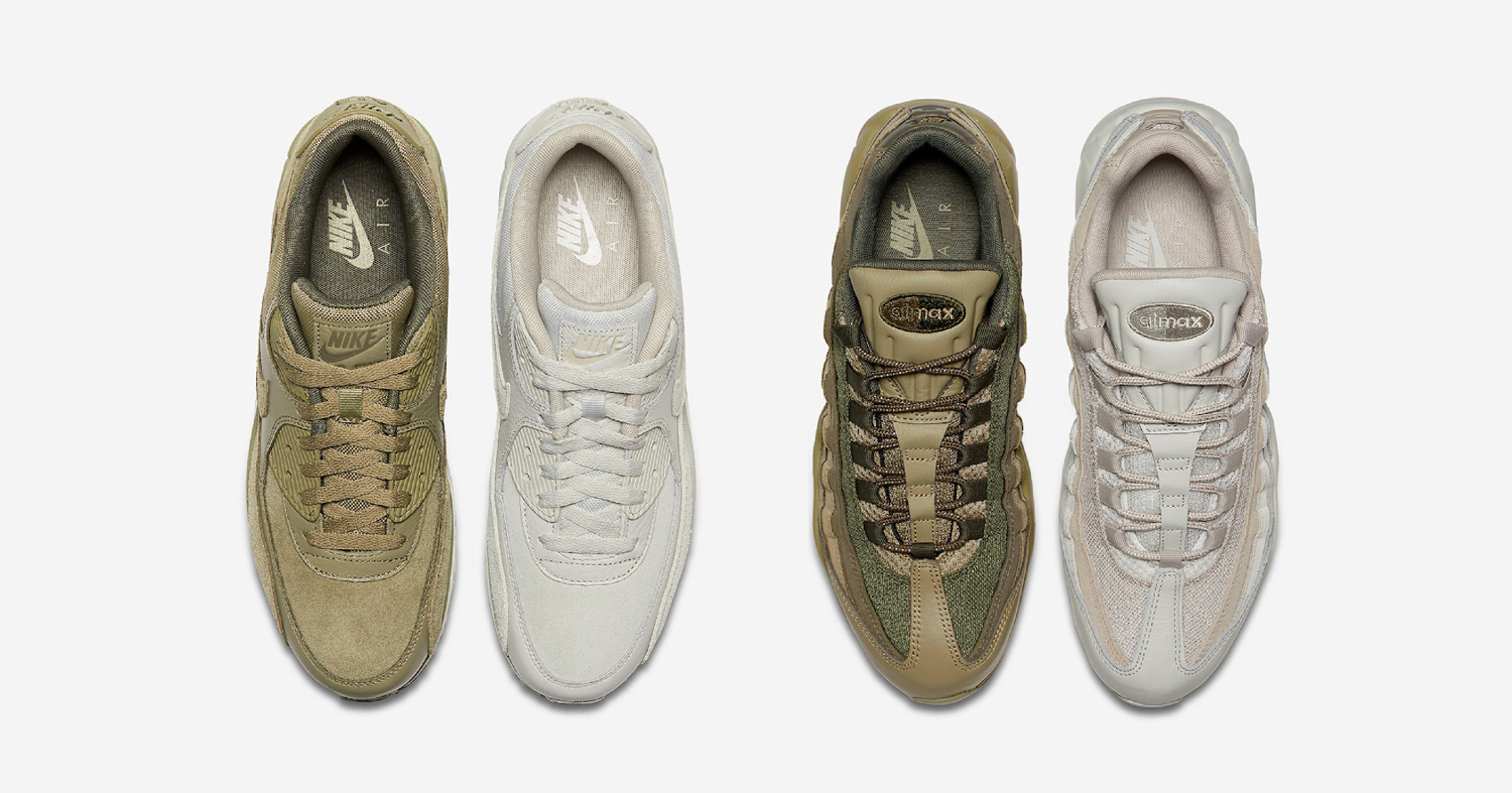 Olive and Khaki tones hit the Air Max 90 and 95