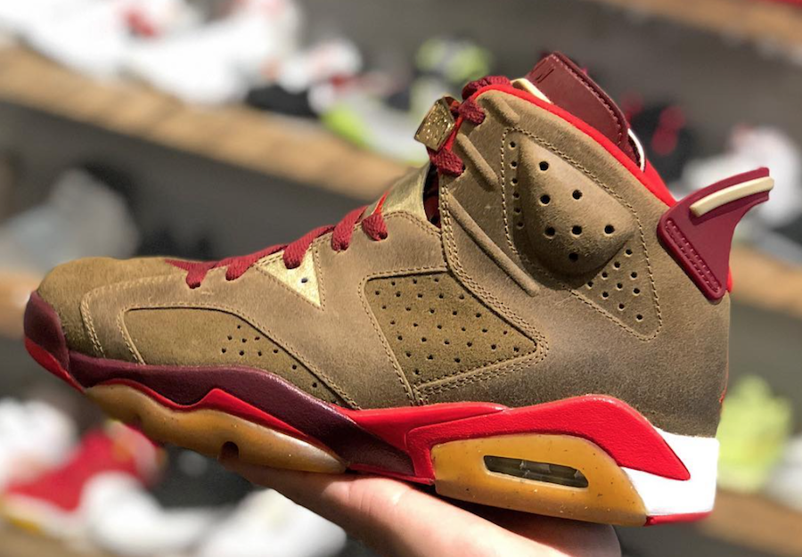 "There's an alternate version of the ""Cigar"" Air Jordan 6"