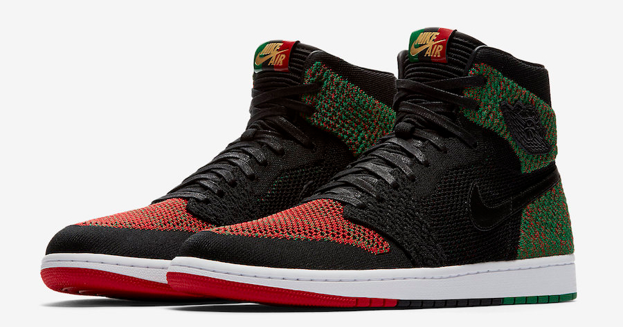 """A detailed look at the Air Jordan 1 Flyknit """"BHM"""""""