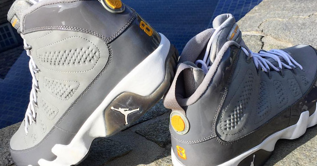"This Kobe ""Cool Grey"" Jordan 9 PE goes way back to 2002"