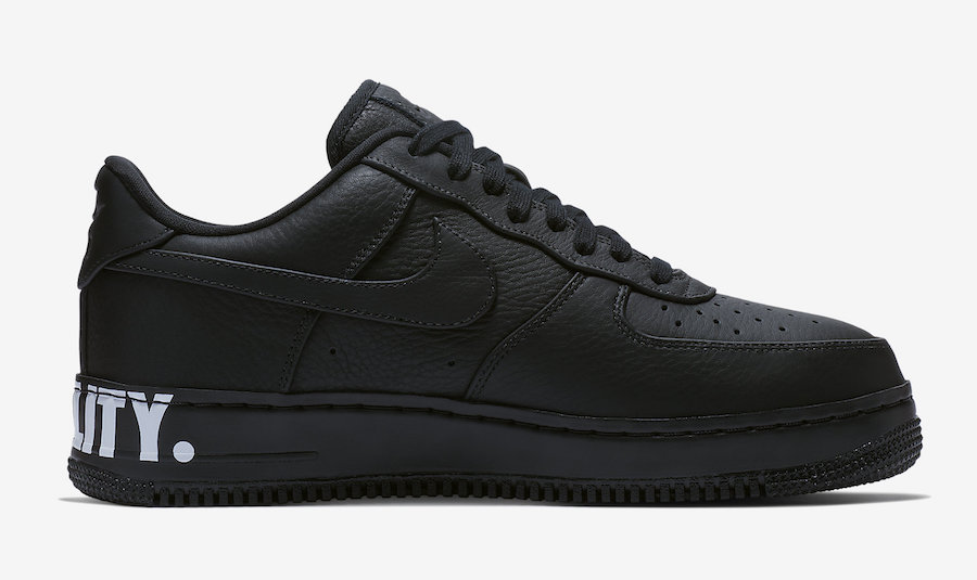 "c0a17401914 Nike Air Force 1 CMFT ""Equality"". Color: Black/Black/White-Metallic Gold  Style Code: AQ2125-001. Release Date: January 15, 2018"