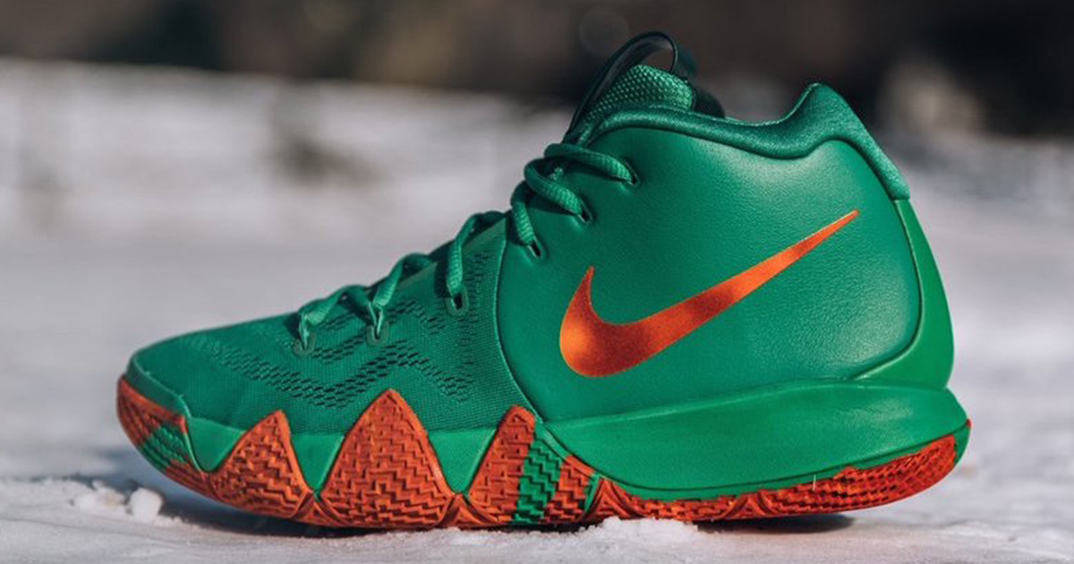 These Kyrie 4's release exclusively in Harlem today