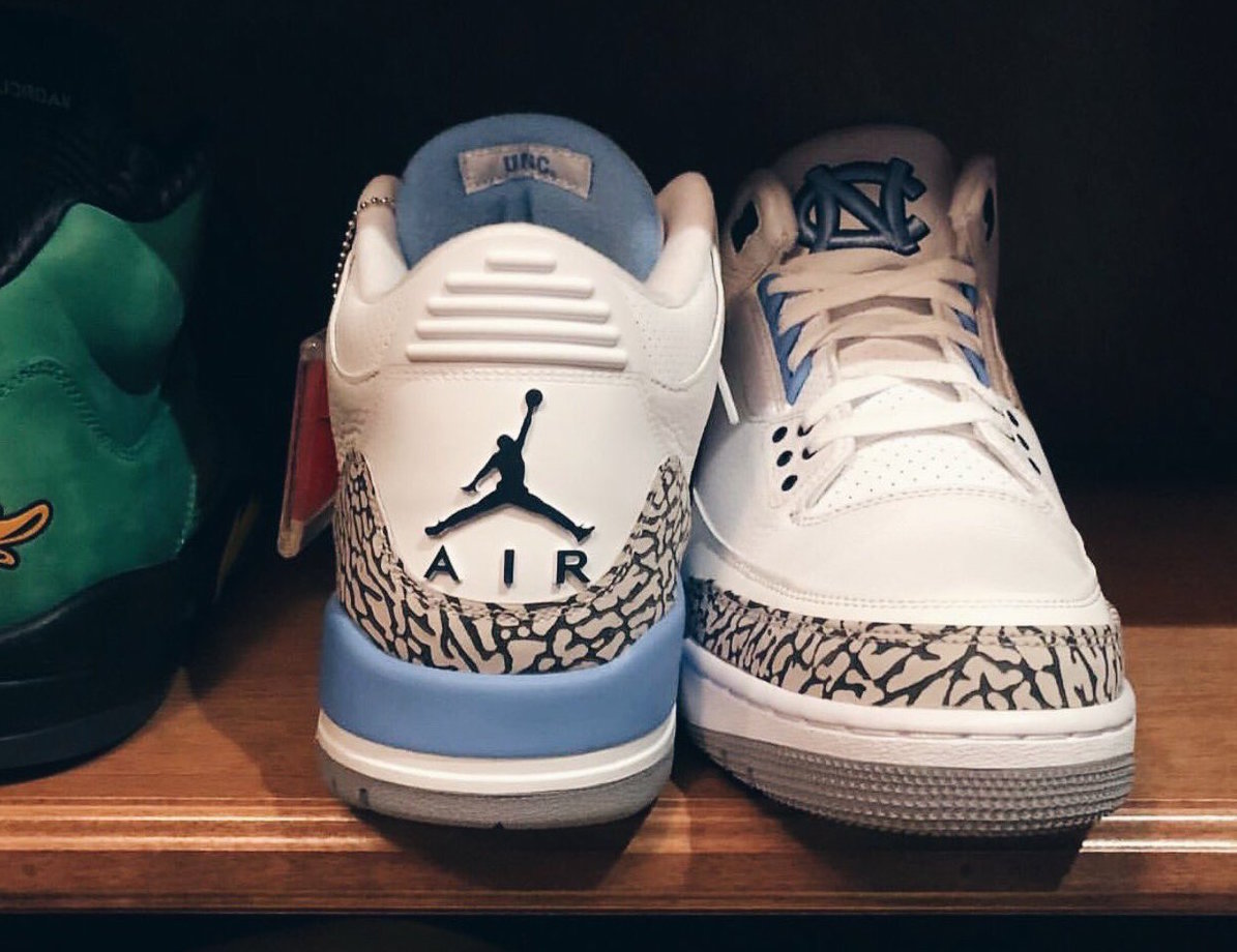 PJ Tucker flexes his rare pair of UNC Air Jordan 3's
