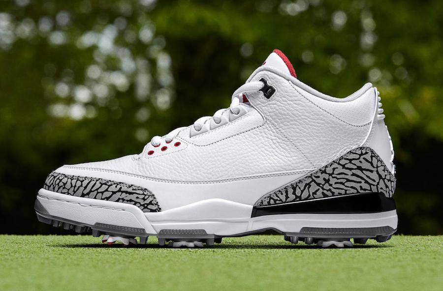 Two new Air Jordan 3's made for the links
