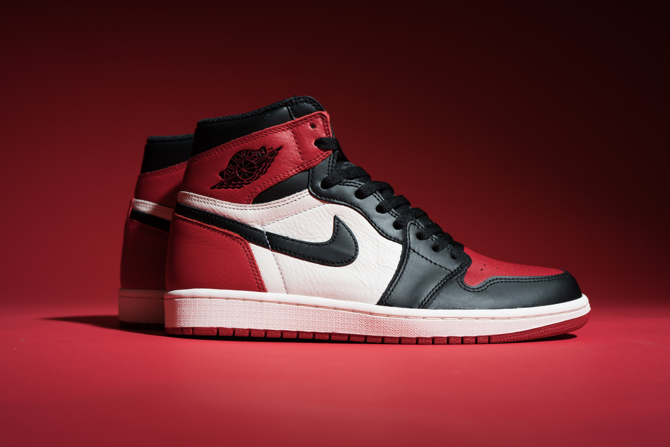 "The Air Jordan 1 ""Bred Toe"" releases today"