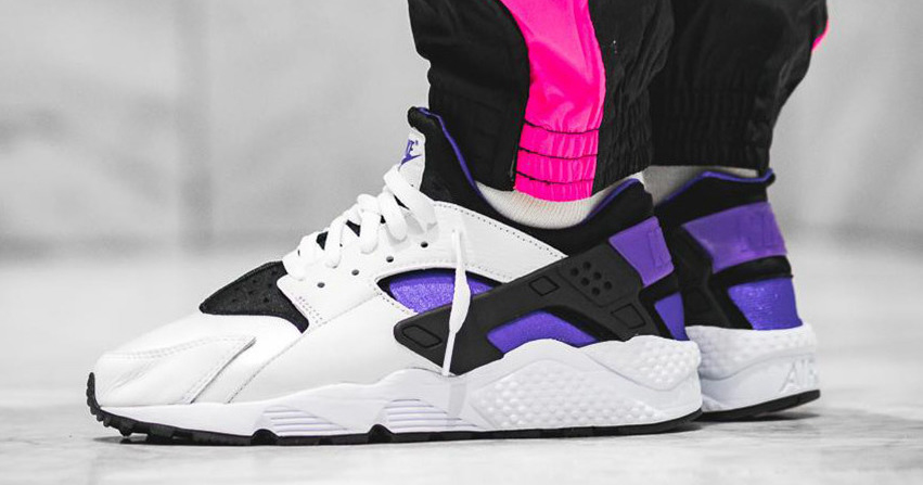 Purple is next to pop on the Nike Huarache