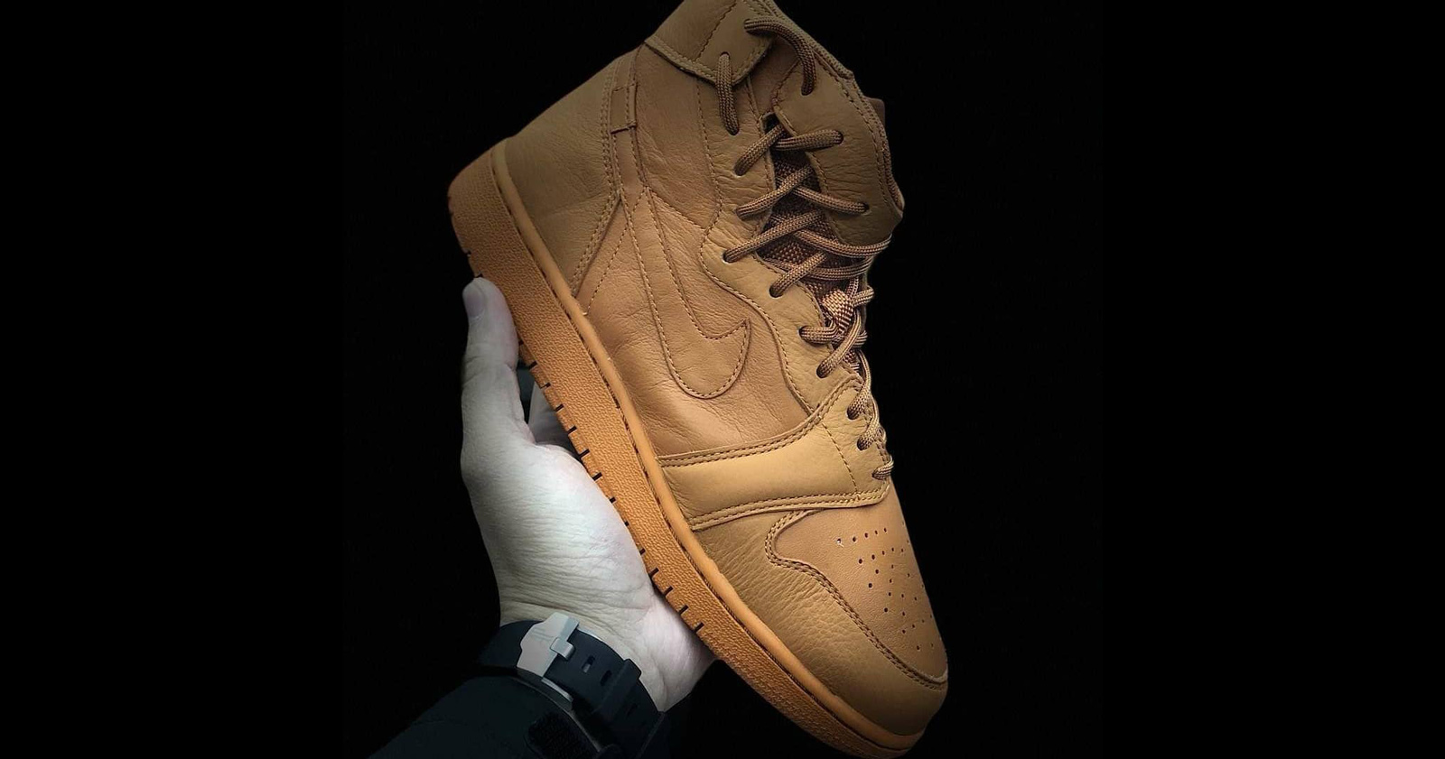 "Wheat hits the Air Jordan 1 ""Rebel"""