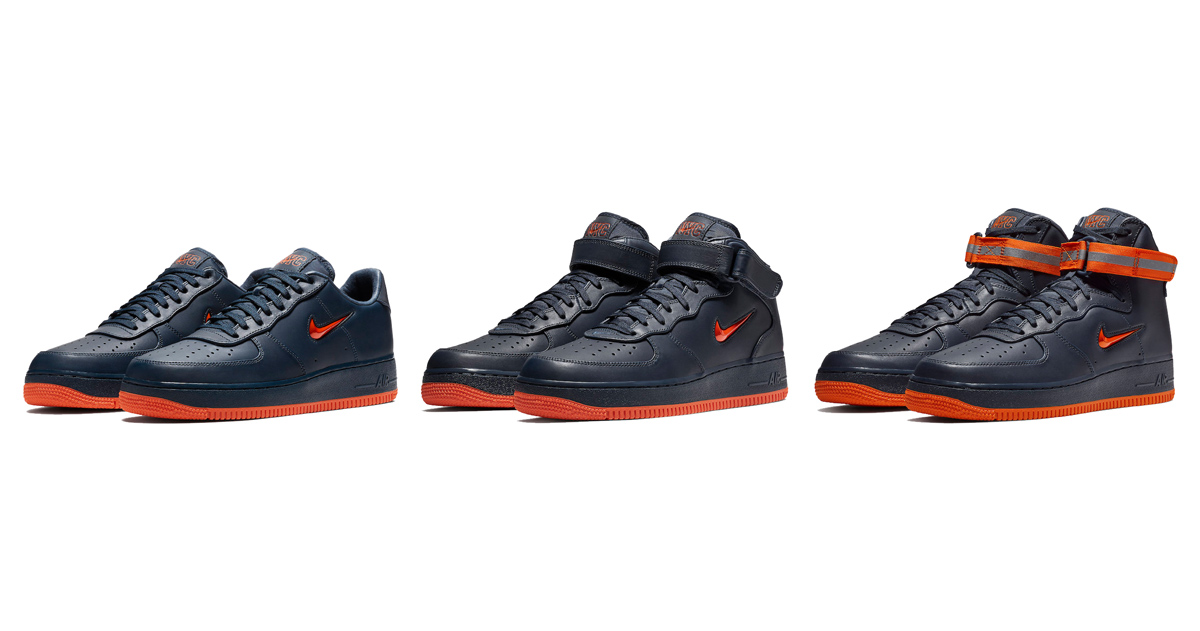 New York City's finest are honored with this trio of AF1's