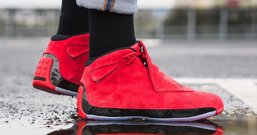"low priced 0435f 42729 On foot look    Air Jordan 18 ""Toro"""