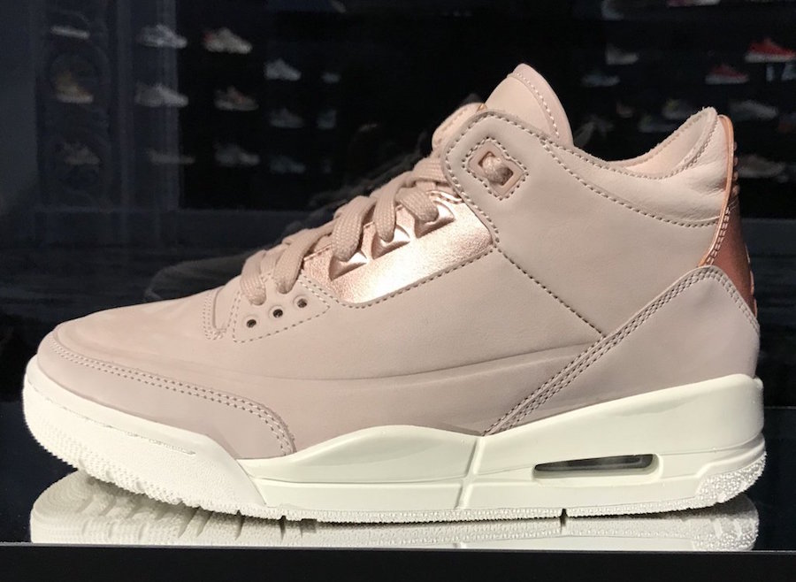 "First Look // Air Jordan 3 ""Rose Gold"""