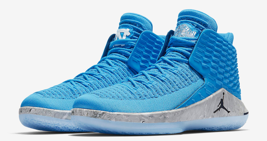 "Official images // Air Jordan 32 ""UNC"""
