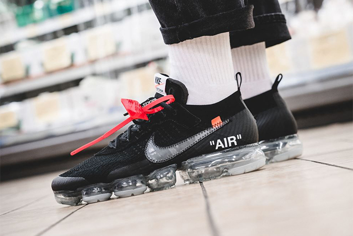 787c442eacf On foot looks at this weekend s OFF-WHITE x Nike VaporMax - HOUSE OF ...