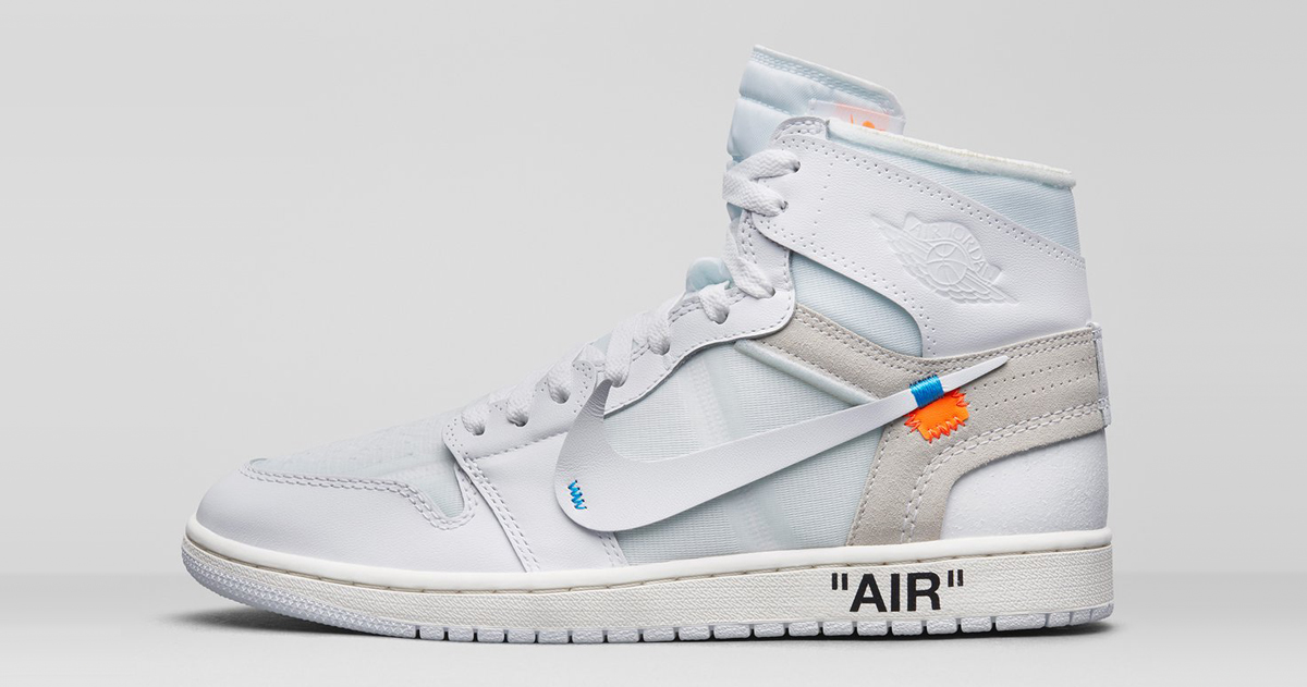 The Off-White x Air Jordan 1 will release Stateside