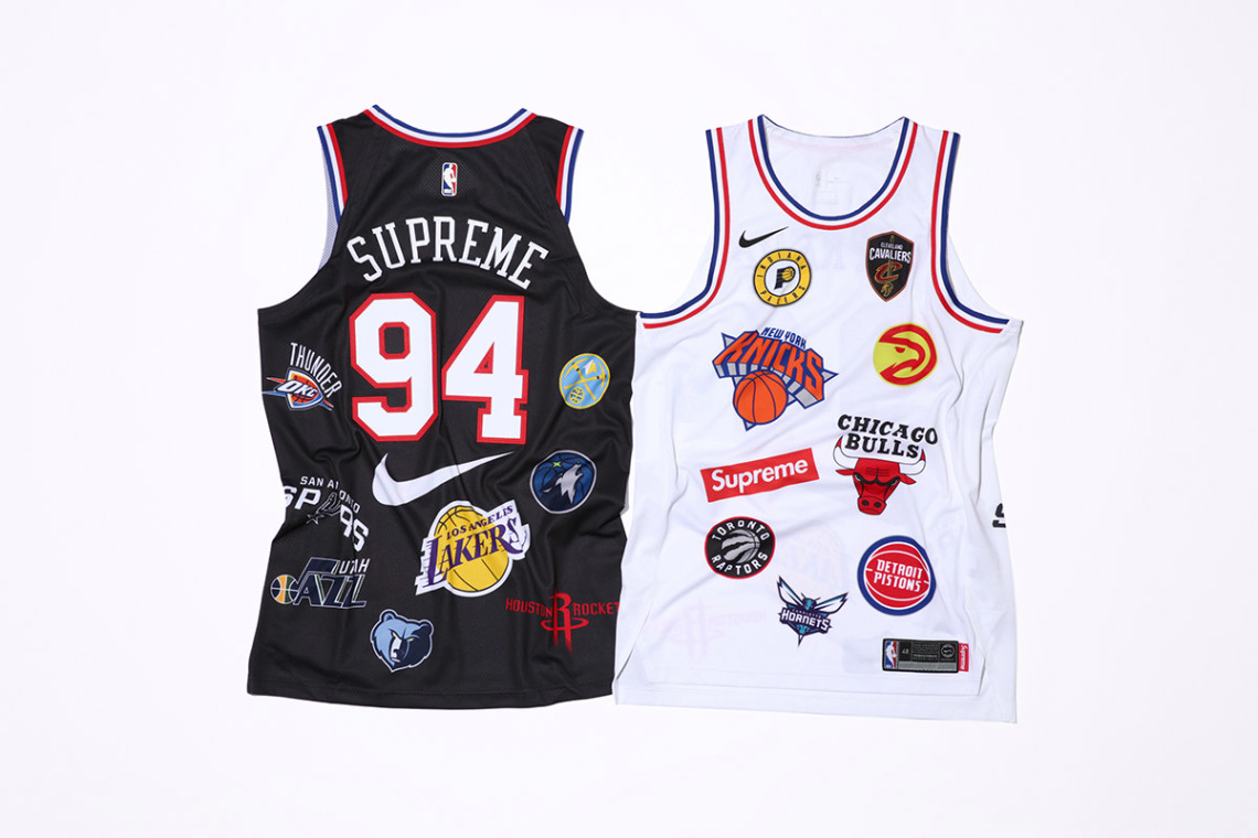 The entire Supreme x NBA x Nike collection drops tomorrow on Nike Lab