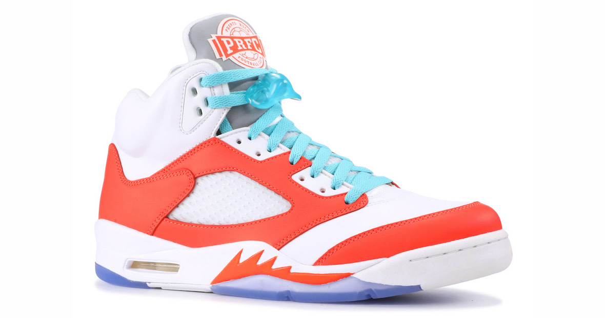 You can score Melo's PRFC Jordan 5 PE for $9,000