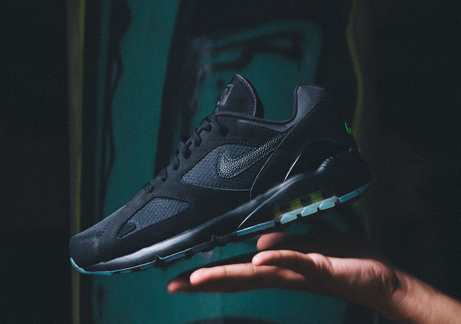 Available Now // Air Max 180 in Black n' Volt