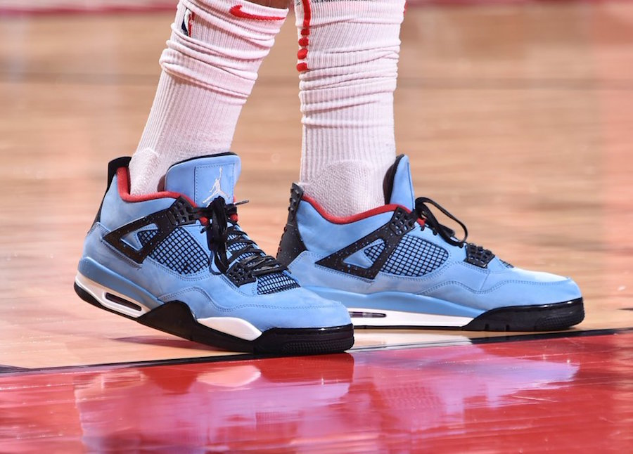 "PJ Tucker balls in Travis Scott's Air Jordan 4 ""Cactus Jack"""