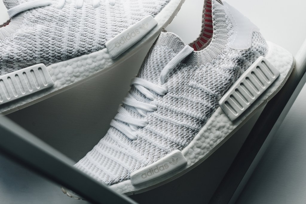 123d89bf1 Available now    adidas NMD R1 STLT  Flat White  - HOUSE OF HEAT ...
