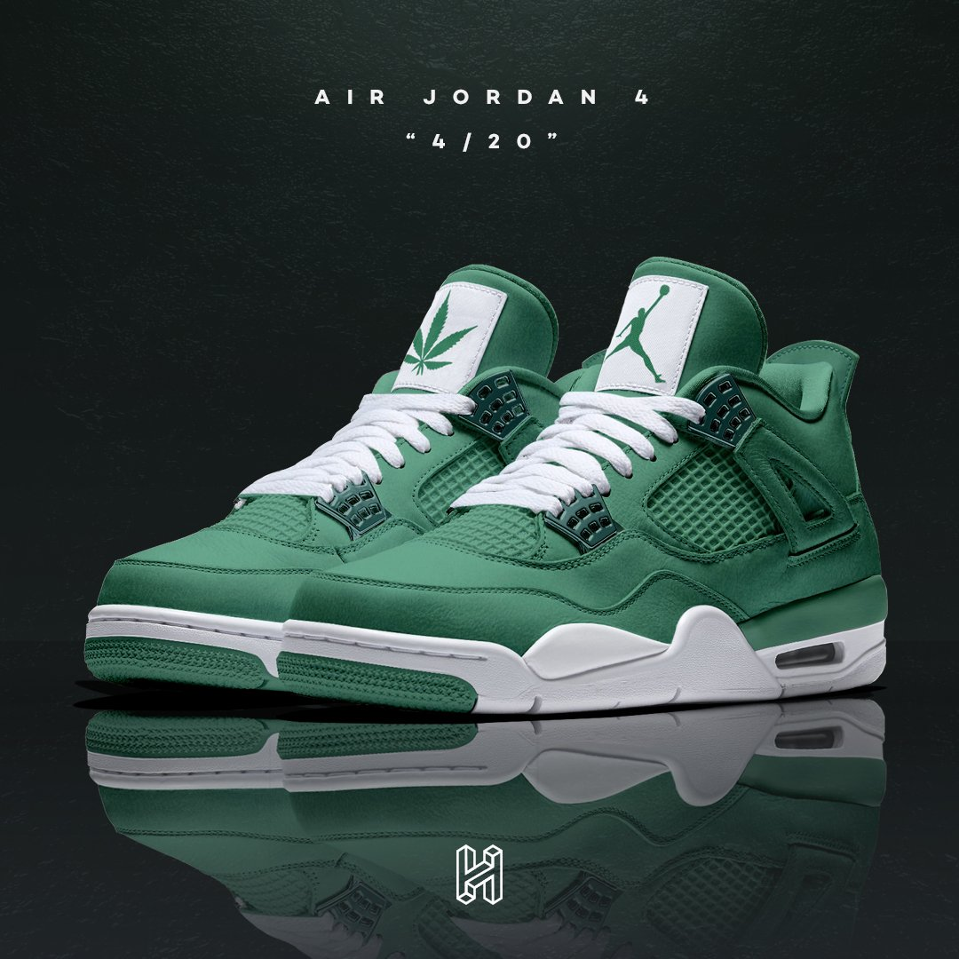 """super popular 01612 4b9cb Air Jordan 4 """"4 20"""". from the HOUSE OF HEAT Concept Lab"""