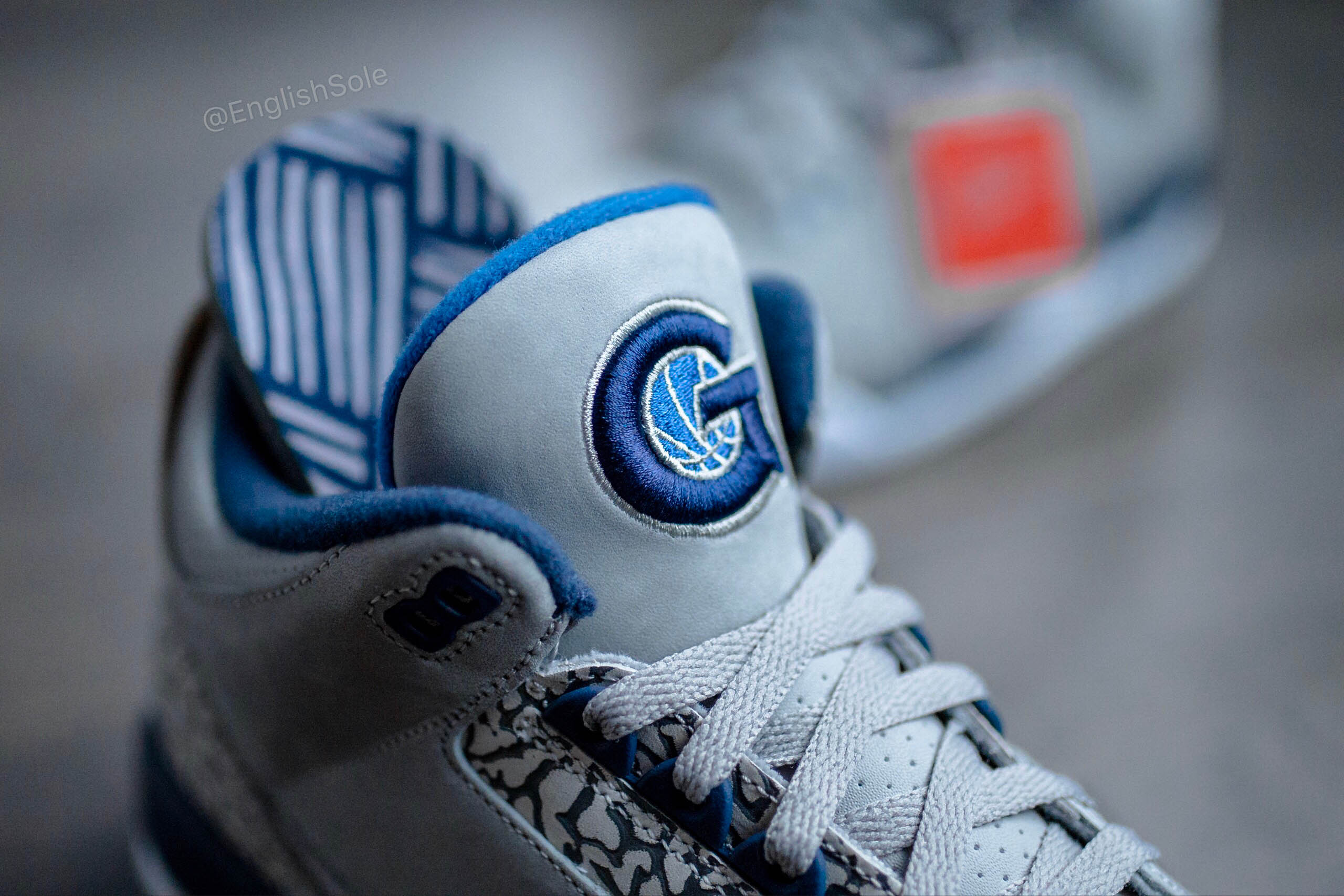 A detailed look at the rare Georgetown and UNC Air Jordan 3 PEs ... 261290154