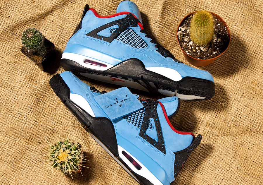 "Detailed look // Travis Scott x Air Jordan 4 ""Houston Oilers"""