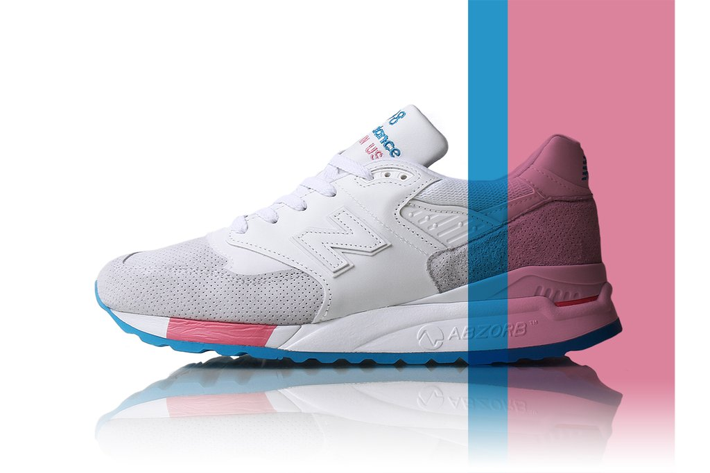 "Available now // New Balance 998 ""Cotton Candy"""